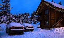 圣诞节横向noel结构树冬天 库存图片