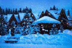 圣诞节横向noel结构树冬天 图库摄影