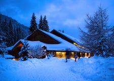 圣诞节横向noel结构树冬天 免版税库存图片