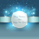 圣诞节横幅的蓝色光 免版税库存图片