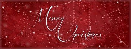 圣诞节横幅背景 库存例证