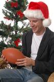 圣诞节橄榄球 库存图片