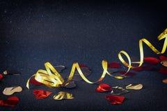 圣诞节欢乐丝带装饰的抽象图象 免版税库存图片