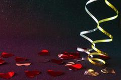 圣诞节欢乐丝带装饰的抽象图象 免版税图库摄影