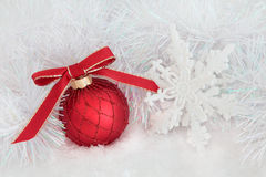 圣诞节欢乐场面 免版税库存图片