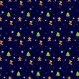 圣诞节欢乐无缝的样式 图库摄影