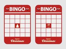 圣诞节欢乐空白装饰的宾果游戏卡片 库存照片