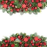 圣诞节欢乐背景边界 图库摄影