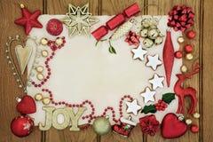 圣诞节欢乐背景边界 免版税图库摄影