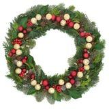 圣诞节欢乐花圈 免版税图库摄影