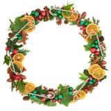 圣诞节欢乐花圈 库存图片