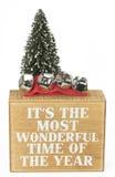 圣诞节欢呼的词与树和响铃的 免版税库存照片