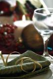 圣诞节正餐设置 免版税库存图片