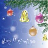 圣诞节毛皮好的simbol结构树 向量例证