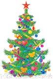 圣诞节毛皮结构树 免版税库存图片
