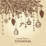 圣诞节毛皮结构树 免版税库存照片