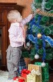 圣诞节毛皮结构树 图库摄影