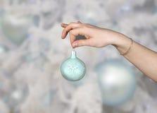 圣诞节毛皮装饰品结构树 库存照片