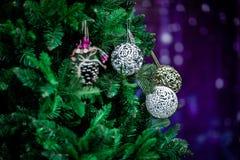 圣诞节气氛,新年装饰 克劳斯・圣诞老人 库存照片