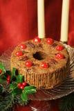 圣诞节水果蛋糕静物画 图库摄影