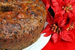 圣诞节水果蛋糕 免版税库存照片