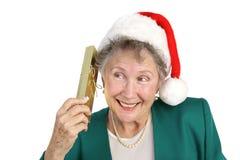 圣诞节求知欲 免版税库存照片