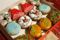 圣诞节油炸圈饼 免版税库存照片