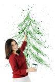 圣诞节泼溅物 免版税库存照片