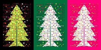 圣诞节流行音乐结构树 免版税库存图片