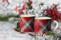 圣诞节浓咖啡 库存图片