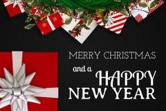 圣诞节消息和装饰设计 库存图片