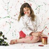 圣诞节混乱油漆 免版税库存图片
