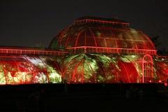 圣诞节温室在Kew庭院里 免版税库存图片