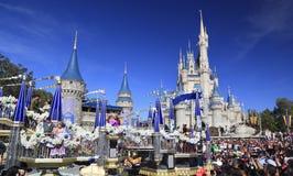 圣诞节游行在不可思议的王国,奥兰多,佛罗里达 免版税图库摄影