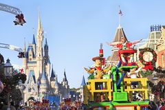 圣诞节游行在不可思议的王国,奥兰多,佛罗里达 免版税库存图片