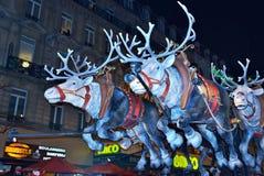 圣诞节游行在布鲁塞尔 库存图片