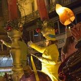 圣诞节游行污蔑在布鲁塞尔 图库摄影