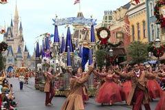 圣诞节游行,不可思议的王国,佛罗里达 免版税库存照片