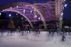圣诞节溜冰者 库存照片
