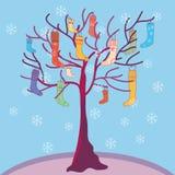 圣诞节滑稽的袜子结构树 皇族释放例证
