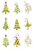 圣诞节滑稽的集结构树 免版税图库摄影