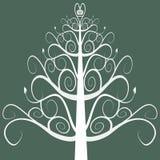 圣诞节滚动结构树 免版税库存图片