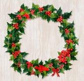 圣诞节漂流木头花圈 皇族释放例证