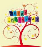 圣诞节漩涡结构树 库存照片