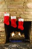 圣诞节火 免版税库存照片