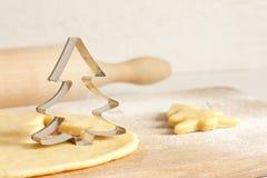 圣诞节烘烤食物概念 免版税库存图片