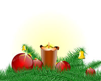 圣诞节烛台 免版税库存照片