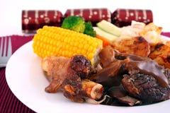 圣诞节烤羊肉 库存图片