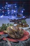 圣诞节烤鸡 库存图片