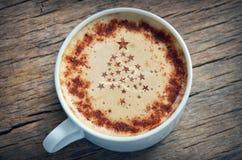圣诞节热奶咖啡 免版税库存照片